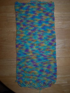 Drop-stitch Scarf (before stitches are dropped)