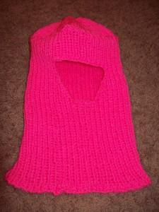 Pink Knit Helmet
