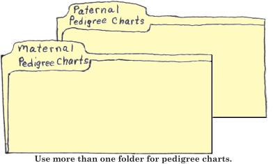 Use more than one folder for pedigree charts.