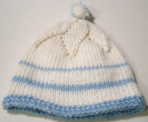 Blue Striped Baby Hat