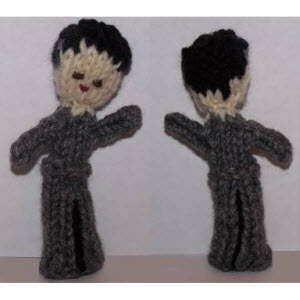 Male Finger Puppet (curly hair)