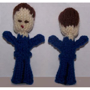 Male Finger Puppet (straight hair)