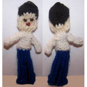 Male Finger Puppet (white-shirt pants)