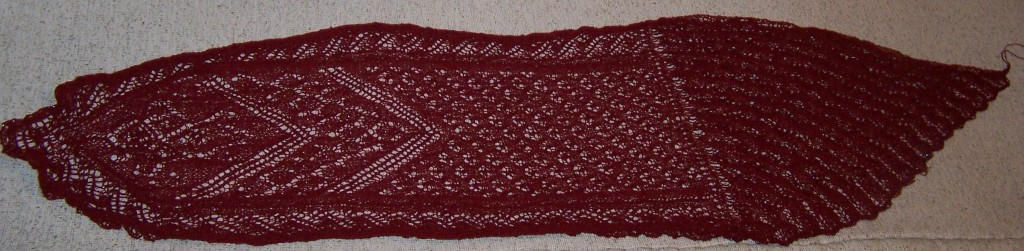 Swan Lake - a knit shawl by Melanie Gibbons