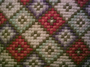 Closeup of Pillow Made by Euphemia Jane Carter Freeman