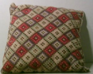 Pillow made by Euphemia Jane Carter Freeman