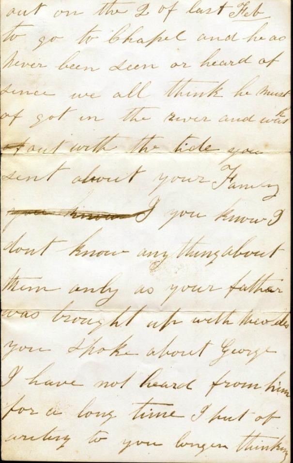 Letter from Sarah Owen to Mary Ann Owen Rogers - page 2