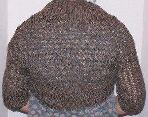 "Knit ""Retro Redux Shrug"" by Mercedes Tarasovich-Clark"